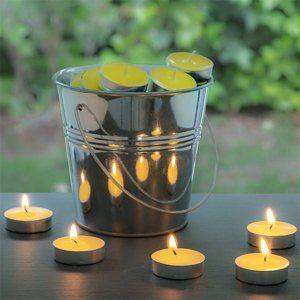 Citronelové sviečky s vedrom (50 sviečok)