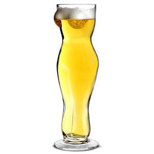 Pohár na pivo sexy žena