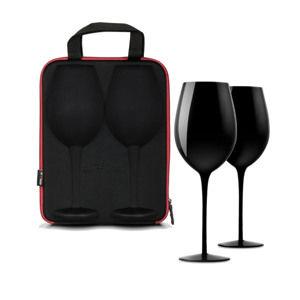 Puzdro s pohármi na víno diVinto - čierne
