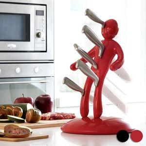 Voodoo stojan na nože - červený