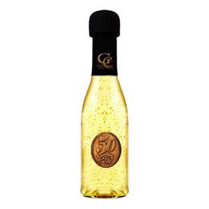 Zlaté šumivé víno 23 karát 0,2 l Narodeniny kovová etiketa 50
